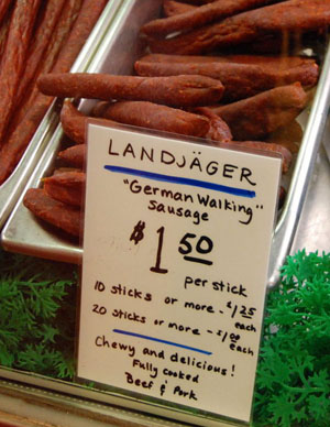 Landjäger als Walking Sausage, Seattle, August 2008