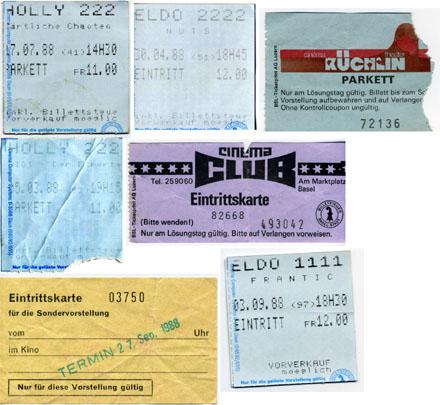 Kinotickets von 1988