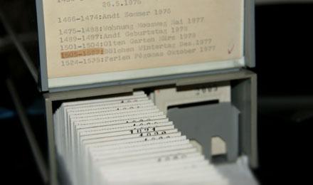 Zu scannende Kodachrome-Dias aus den 1970er-Jahren (Februar 2009)
