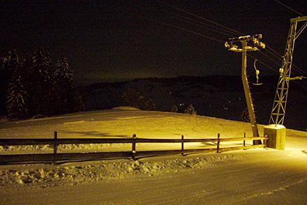 Nachtskifahren am Skilift Schindelberg, Linden (Februar 2009)