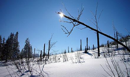 Bergstation Skilift Gägger, Selital (Februar 2009)