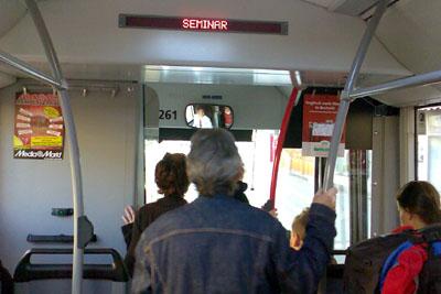 Ansturm beim Busfahrer wegen Nullinfo durch Bernmobil (18. April 2009)