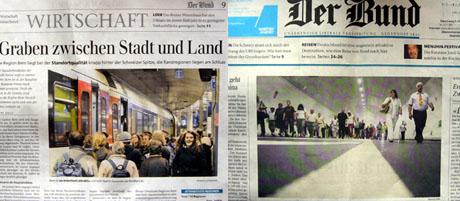 Zeitungs-Fotos (hier als Beispiel im Bund), über die man sich theoretisch mehr ärgern könnte als über Google Street View...