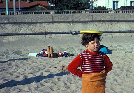 Der Autor am Strand von Cannes, Oktober 1977