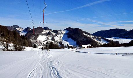Skilift Untere Wanne, Langenbruck, 4. Februar 2010 - Klicken für mehr Fotos