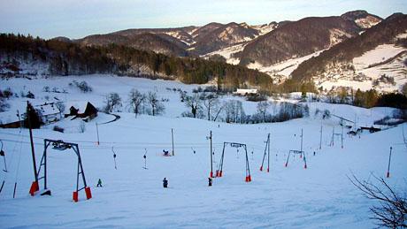 Skilift Obere Wanne, Langenbruck, 4. Februar 2010 - Klicken für mehr Fotos
