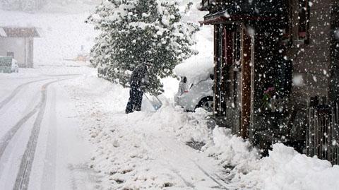 Wintereinbruch in Sedrun, 8. Oktober 2011