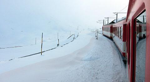 Wintereinbruch in Sedrun, 9. Oktober 2011