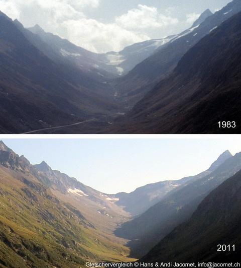 Gletschervergleich Nalps 1983-2011