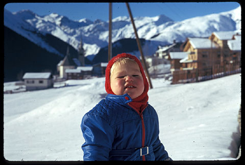 Klein Blker, Januar 1974 in Sedrun