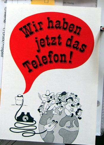 Wir haben jetzt das Telefon! (Karte der PTT aus den 1970ern)