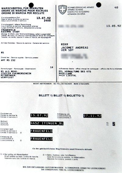 Marschbefehl, Sommer 1992