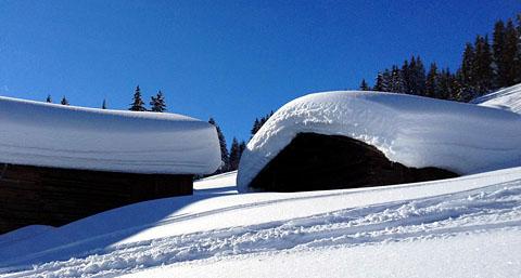 Im Skigebiet Brigels-Waltensburg, 26. Januar 2012