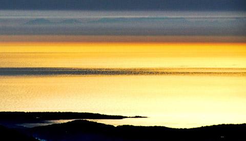Aussicht von der Montagne de l'Audibergue (1600m) auf Korsika, 23. Februar 2012