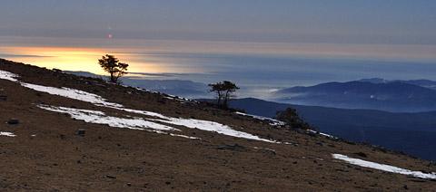 Aussicht von der Montagne de l'Audibergue (1600m), 23. Februar 2012