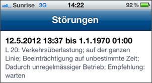 Gefangen in der Zeitschleife - Bernmobil empfiehlt: warten. (Quelle: Mezi)