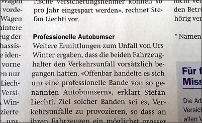 Die Autobumser (Magazin der AXA-Versicherung)