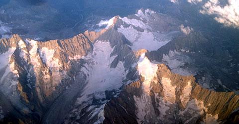 Das Mont-Blanc-Massiv