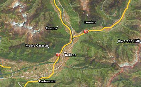 Bellenz statt Bellinzona, iOS6 Maps