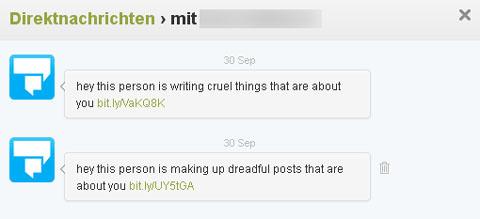 Gehacktes Twitterkonto versendet Links zu Trojanerseiten (Herbst 2012)