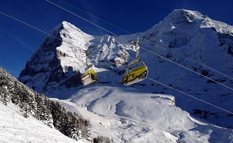 Skifahren im Gebiet Kleine Scheidegg, 12.12.12