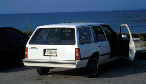 Mein Auto für die nächsten 10 Wochen, ein 87er Chevrolet Cavalier Station Wagon, dessen Klimaanlage kaputt war und auch schon über 100'000 Meilen auf dem Buckel hatte