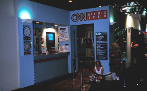 CNN-Studiotour in Atlanta, 1993