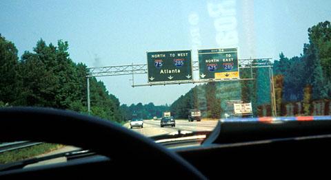 Auf den Interstates von Georgia, Juni 1993