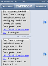 Roaming-Erleichterung bei Swisscom