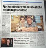 Auf Seite 11 in der Gripen-Zeitung: Ein Text zur Mindestlohninitiative, der einem BZ-Artikel verblüffend ähnelt