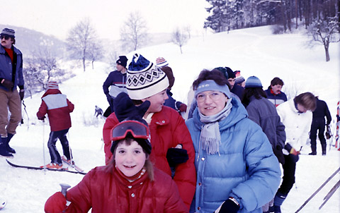 Skirennen in Itingen BL am 6. Januar 1985