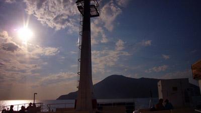 Isola di Salina von der Fähre aus, September 2007