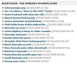 espace.ch-Blogticker: Voller Pornolinks (August 2008)
