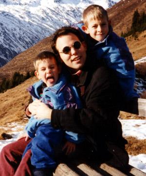 Lucas, Daniel, Andi - fast schneefreie Weihnachten 1994 auf Cungieri