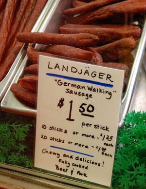 Landjäger als Walking Sausage, Seattle, August 2008