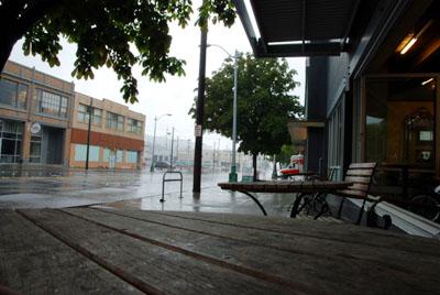 Uptown Espresso, Ecke Westlake und Repblican, Seattle, August 2008 (Foto: Lucas Jacomet)