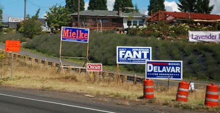 Mielke zurück in der Politik? (Interstate 5 North, im Süden Washingtons, August 2008)