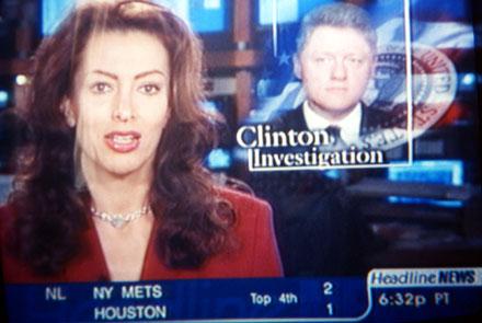 CNN berichtet über die Untersuchungen gegen Bill Clinton (Seattle, September 1998)