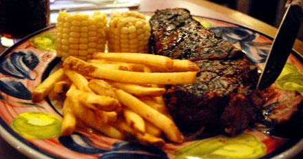 Ein wunderbares Steak - das gibts fast nur in Nordamerika (September 2008)