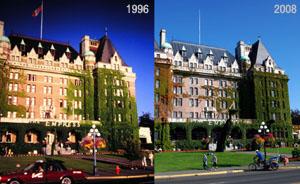Das Empress Hotel in Victoria (1996 und 2008)