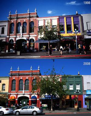 Häuser in Victoria (1998 und 2008)