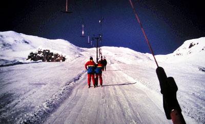 Auf dem Skilift in Neuseeland (31. August 1993)