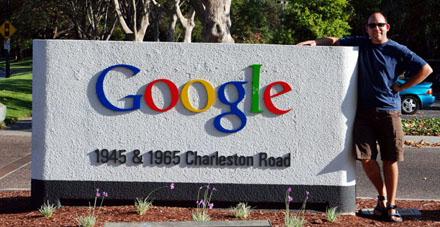 Der Blöker neben der Google-Zentrale in Mountain View (September 2008) - einer der Kraftorte für Netzmenschen