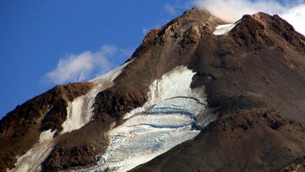 Gletscher auf dem Mount Shasta (September 2008)
