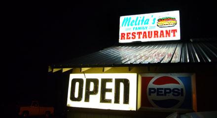 Melita's in Chiloquin, Oregon:Währschaftes Essen und gute Atmosphäre (September 2008)