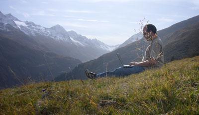 Arbeiten auf der Alp Tgom (Sedrun, Oktober 2008)