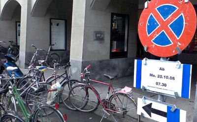 Veloprobleme am Zytglogge Bern (Oktober 2008)
