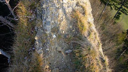 Auf dem Guggershörnli-Grat aus wunderbarer Nagelfluh (November 2008)