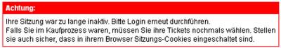 SBB-Online-Bestellprobleme (November 2008)