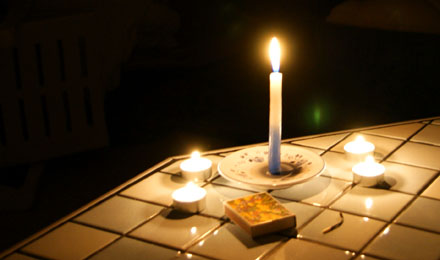 Candle Light Dinner bei Stromausfall (November 2008)